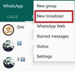 Nova transmissão WhatsApp