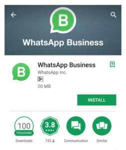 Instalar aplicativo WhatsApp Business